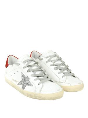 GOLDEN GOOSE: sneakers online - Sneaker Superstar con stella logo glitterata