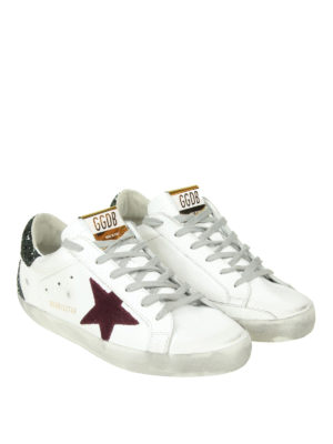 GOLDEN GOOSE: sneakers online - Sneaker Superstar in pelle stella glitter