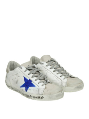 GOLDEN GOOSE: sneakers online - Superstar con stella effetto pennarello