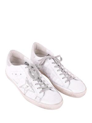 GOLDEN GOOSE: sneakers online - Superstar effetto cocco e argento