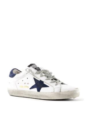 GOLDEN GOOSE: sneakers online - Sneaker Superstar con stella blu scuro
