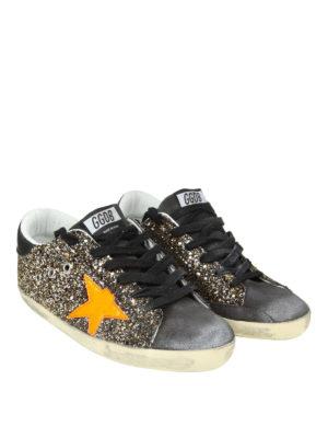 GOLDEN GOOSE: sneakers online - Sneaker Superstar in suede glitterato