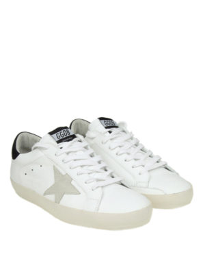 GOLDEN GOOSE: sneakers online - Sneaker basse Superstar in pelle bianca