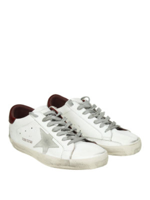 GOLDEN GOOSE: sneakers online - Sneaker low top Superstar in pelle bianca