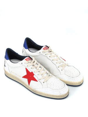 GOLDEN GOOSE: sneakers online - Sneaker bianche Ball Star con stella rossa