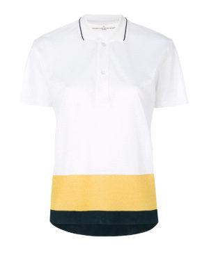 GOLDEN GOOSE: polo - Polo in cotone a blocchi di colore