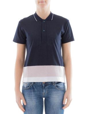 Golden Goose: polo shirts online - Striped bottom cotton polo