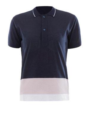 Golden Goose: polo shirts - Striped bottom cotton polo
