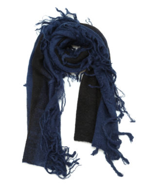 Golden Goose: scarves - Joseph striped mohair blend scarf