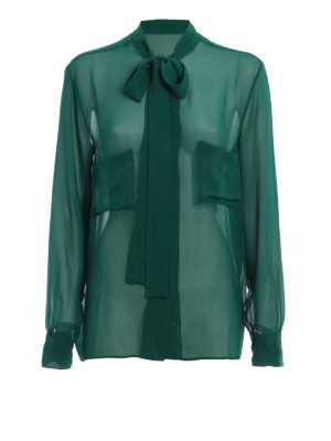 Golden Goose: shirts - Chicago pussy bow silk shirt