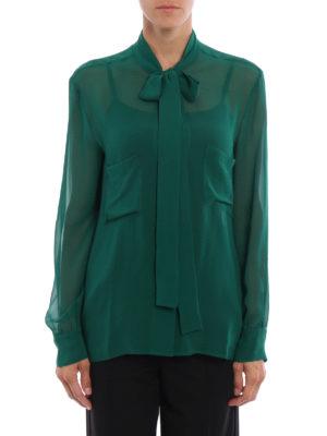 Golden Goose: shirts online - Chicago pussy bow silk shirt
