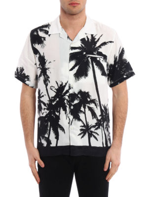 Golden Goose: shirts online - Palm print bowling shirt