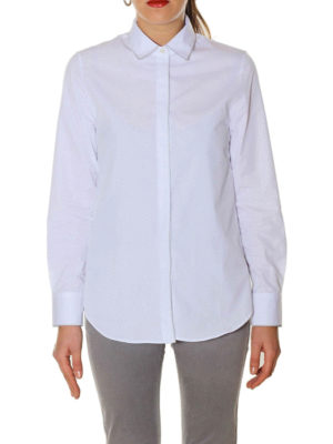 Golden Goose: shirts online - Silver piping poplin shirt