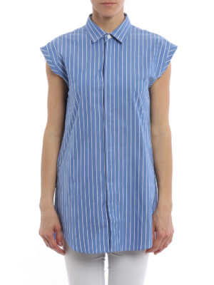 Golden Goose: shirts online - Sleeveless pinstriped shirt