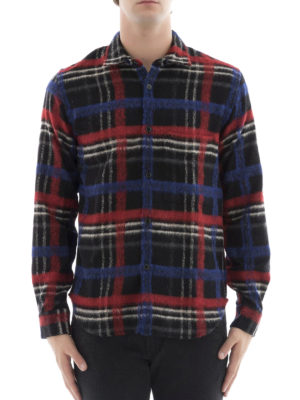 Golden Goose: shirts online - Wool blend checked shirt