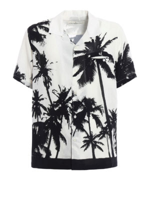 Golden Goose: shirts - Palm print bowling shirt