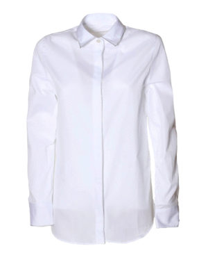 Golden Goose: shirts - Silver piping poplin shirt