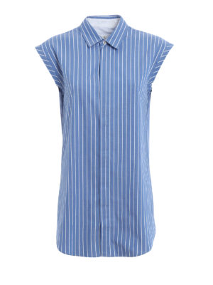 Golden Goose: shirts - Sleeveless pinstriped shirt