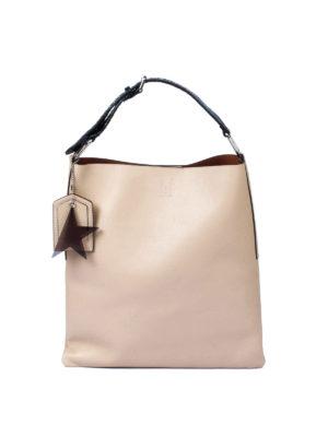 Golden Goose: shoulder bags - Carry Over beige hobo bag