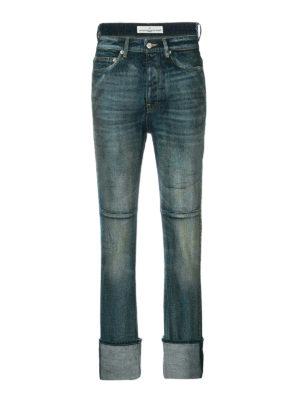 Golden Goose: straight leg jeans - Asymmetric waist jeans