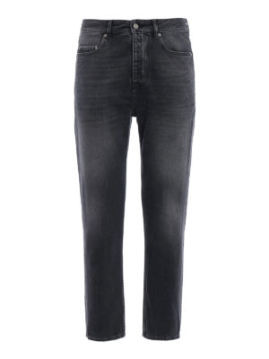Golden Goose: straight leg jeans - Denim Golden Happy grey jeans