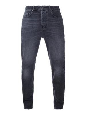 Golden Goose: straight leg jeans - Golden Happy cotton denim jeans