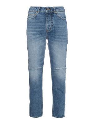 Golden Goose: straight leg jeans - Happy patchwork jeans