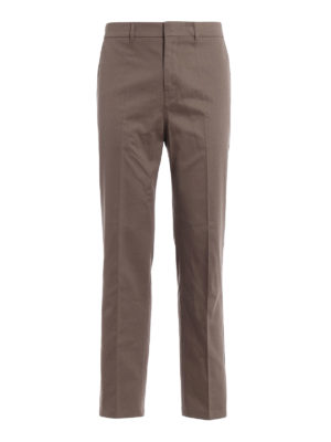 Golden Goose: straight leg jeans - Light brown cotton denim jeans