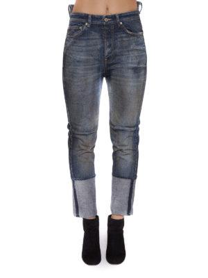 Golden Goose: straight leg jeans online - Asymmetric waist jeans