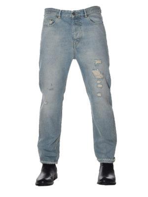Golden Goose: straight leg jeans online - Golden Happy used effect jeans