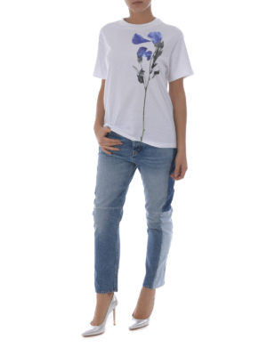 Golden Goose: straight leg jeans online - Happy patchwork jeans