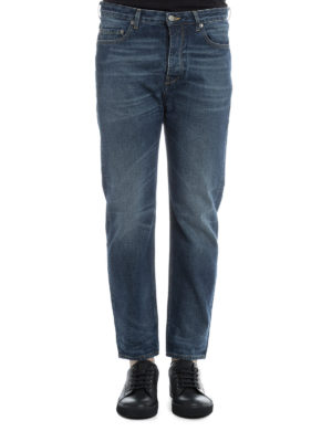 Golden Goose: straight leg jeans online - Stone washed cotton denim jeans