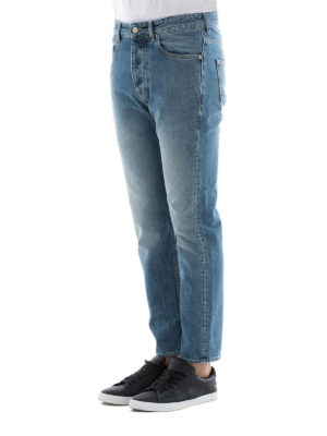 Golden Goose: straight leg jeans online - Straight leg cotton denim jeans