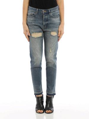 Golden Goose: straight leg jeans online - Straight leg ripped jeans