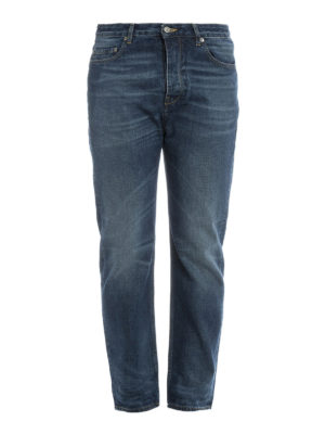 Golden Goose: straight leg jeans - Stone washed cotton denim jeans