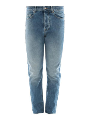 Golden Goose: straight leg jeans - Straight leg cotton denim jeans