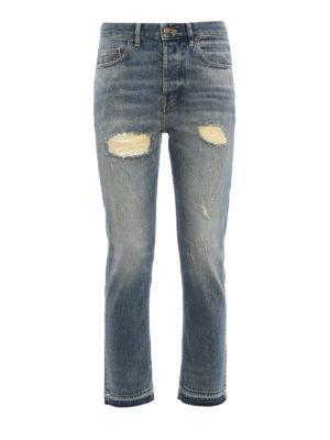 Golden Goose: straight leg jeans - Straight leg ripped jeans
