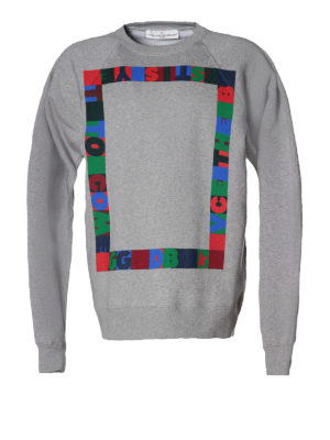 Golden Goose: Sweatshirts & Sweaters - Alfred printed cotton sweatshirt