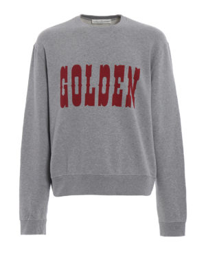 Golden Goose: Sweatshirts & Sweaters - Alfred printed logo sweatshirt