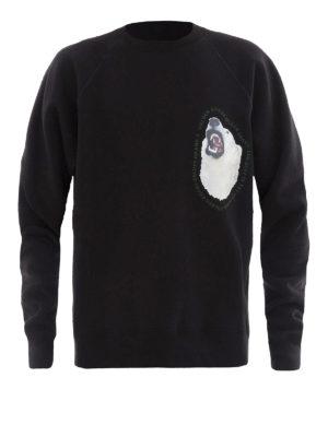 Golden Goose: Sweatshirts & Sweaters - Edward black cotton sweatshirt