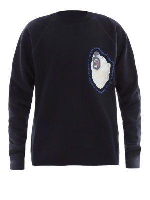 Golden Goose: Sweatshirts & Sweaters - Edward blue cotton sweatshirt