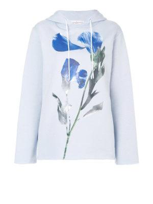 Golden Goose: Sweatshirts & Sweaters - Loreta maxi flower detail hoodie