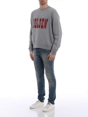 Golden Goose: Sweatshirts & Sweaters online - Alfred printed logo sweatshirt