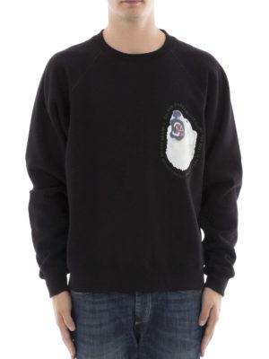 Golden Goose: Sweatshirts & Sweaters online - Edward black cotton sweatshirt