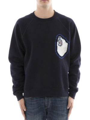 Golden Goose: Sweatshirts & Sweaters online - Edward blue cotton sweatshirt