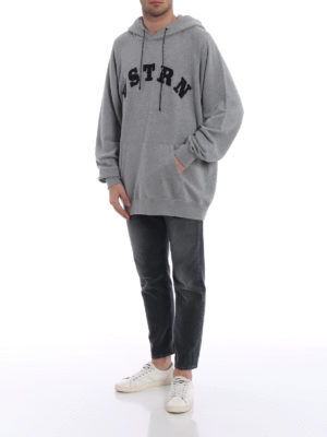 Golden Goose: Sweatshirts & Sweaters online - Egg-shape grey cotton hoodie