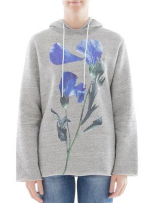 Golden Goose: Sweatshirts & Sweaters online - Floral print detailed cotton hoodie