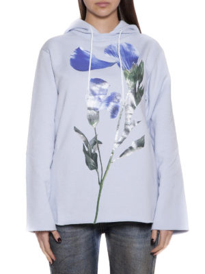 Golden Goose: Sweatshirts & Sweaters online - Loreta maxi flower detail hoodie