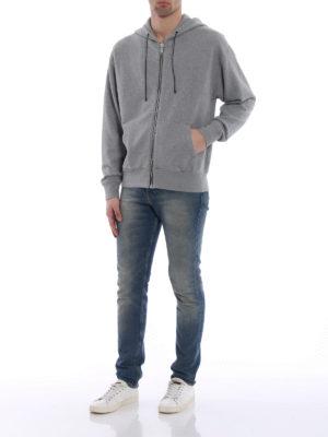 Golden Goose: Sweatshirts & Sweaters online - Peyton maxi logo cotton hoodie