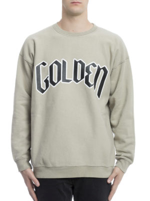 Golden Goose: Sweatshirts & Sweaters online - Printed logo cotton sweatshirt